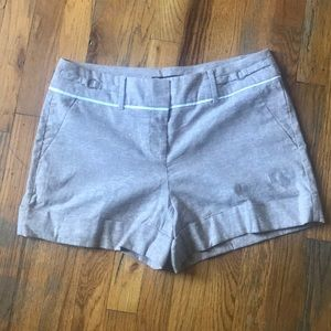 7th Avenue NEW YORK AND CO tan shorts.